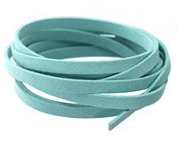 Turquoise Microsuede Flat Cord 7mm