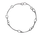 Amoracast Sterling Silver Ecliptic Circle 38x38mm