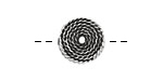 Greek Pewter Coiled Rope Coin 15mm