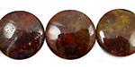 Red Pietersite Puff Coin 20mm