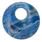 Larimar Blue Crazy Lace Off Center Donut 45mm