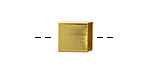 Gold (plated) Cubic Noodle Bead 10x10mm