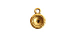 Nunn Design Antique Gold (plated) Organic Circle Bezel Pendant 10x15mm