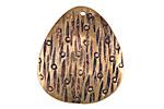 Saki Bronze Patterned Pendant 27x30mm