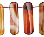 Carnelian (natural) Graduated Rectangular Drops 10x25-44mm