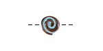 Greek Copper Patina Spiral Bead 10mm