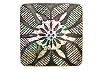 Lillypilly Black Tapestry Mother of Pearl Square Cabochon 31mm