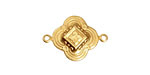 Brass Ornate Clover Link 22x16mm