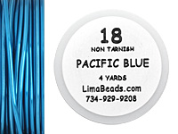 Parawire Pacific Blue 18 Gauge, 4 Yards