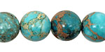Ocean Blue Impression Jasper Round 14mm