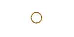 Gold (plated) Fine Textured Jump Ring 8mm