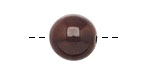Tagua Nut Dark Brown Round 16mm