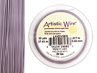 Artistic Wire Lavender 26 gauge, 30 yards