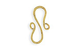Vintaj Antique 10K Gold (plated) S-Shaped Hook 24x12mm