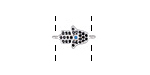 Silver Finish Storm Mix Pave CZ Tiny Hamsa Focal Link 15x8mm