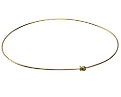Gold (plated) Simple Neck Collar w/ Hook & Ball Closure 13 gauge