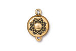 TierraCast Antique Gold (plated) Lotus Magnetic Clasp 14x20mm