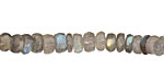 Labradorite Faceted Irregular Rondelle 5-6mm