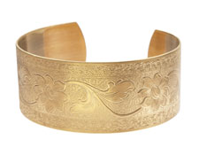 Brass Floral Vine Cuff 62x26mm