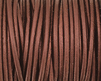 Maroon Round Leather Cord 2mm
