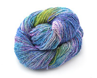 Delphinium Sparkle Lace Weight Silk Yarn