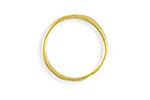 Vintaj 10K Gold (plated) Stacking Ring 21mm, Size 8