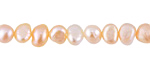 Natural Pink Freshwater Flat-Sided Potato Pearl 6-7mm
