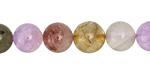 Multi Quartz (Rutilated, Lavender, Strawberry) Round 10mm