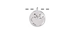 Rhodium (plated) w/ Crystals Sagittarius Constellation Charm 11x13mm
