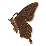 Vintaj Natural Brass Butterfly Profile 46mm