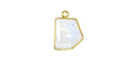 Moonstone (rainbow) Fancy Cut Drop in Gold Vermeil 9-13x11-24mm