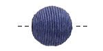 Marine Blue Thread Wrapped Bead 18mm