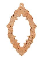 Natural Cork Bali Chandelier Cutout Focal 37x63mm