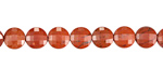 Red Jasper Faceted Puff Coin 6mm
