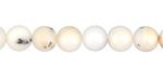 White Opal Round 8mm