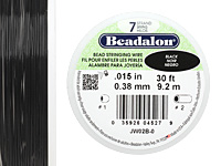 "Beadalon Black .015"" 7 Strand Wire 30ft."
