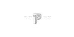 "Sterling Silver Letter ""P"" Charm Slide 6mm"