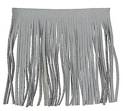 Gray Leather Tassel Fringe 5 inch square