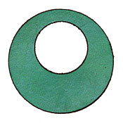 Lillypilly Sea Green Leather Large Open Round 50mm