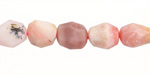 Pink Opal Faceted Nugget 10-14x9-11mm