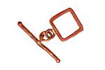 Patricia Healey Copper Small Square Toggle 14x19mm, 29mm bar