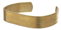 Brass Smooth Flat Narrow Cuff 60x12mm
