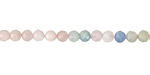 Multi Beryl Faceted Round 4mm