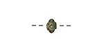 Zola Elements Patina Green Brass Bali Style Bead 4.5x6mm