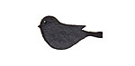 Lillypilly Black Leather Small Left Facing Sparrow 13x26mm
