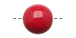 Tagua Nut Red Round 20mm