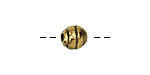 Greek Antique Gold (plated) Striped Round 8mm