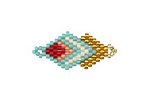 Zola Elements Palm Springs Hand Woven Double Diamond 28x13mm