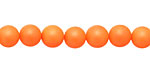 Neon Orange Shell Pearl Round 8mm
