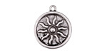 Zola Elements Antique Silver (plated) Radiant Sun Coin Focal 18x21mm